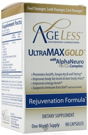 DROPPED: Ageless Foundation - Ultra Max Gold Capsules - 90 Capsules CLEARANCE PRICED