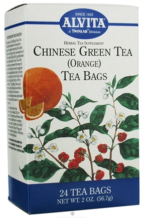 DROPPED: Alvita - Chinese Green Tea Orange - 24 Tea Bags CLEARANCE PRICED