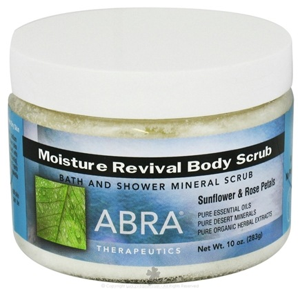 DROPPED: Abra Therapeutics - Body Scrub Moisture Revival Sunflower and Rose Petals - 10 oz. CLEARANCE PRICED