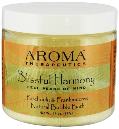 DROPPED: Abra Therapeutics - Aroma Therapeutics Natural Bubble Bath Blissful Harmony Patchouly and Frankincense - 14 oz.