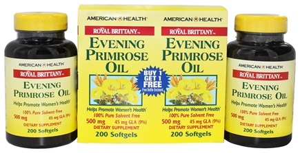 American Health - Royal Brittany Evening Primrose Oil (200+200) Twin Pack Special 500 mg. - 400 Softgels