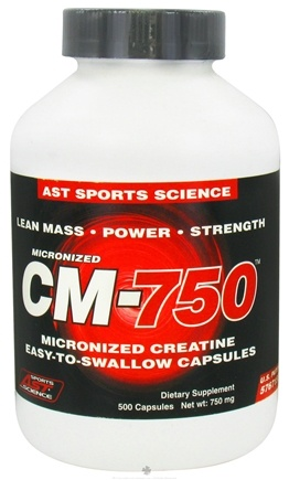 DROPPED: AST Sports Science - Micronized CM750 Creatine Caps - 500 Capsules CLEARANCE PRICED
