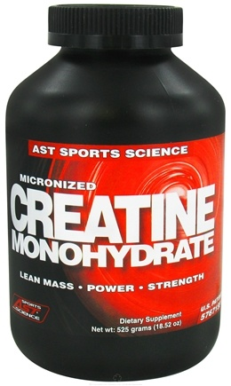 DROPPED: AST Sports Science - Micronized Creatine Monohydrate - 525 Grams CLEARANCE PRICED
