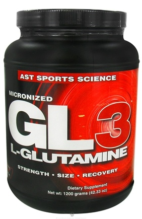 DROPPED: AST Sports Science - Micronized GL3 L-Glutamine Powder - 1200 Grams CLEARANCED PRICED
