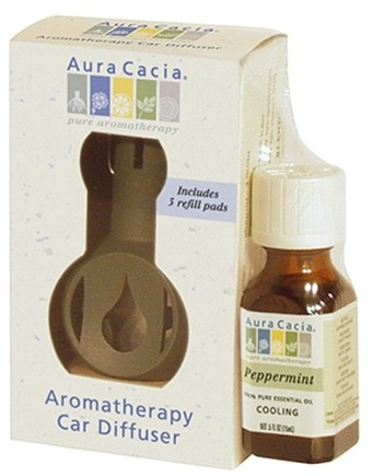 DROPPED: Aura Cacia - Aromatherapy Car Diffuser Commuter Pack plus Peppermint Oil
