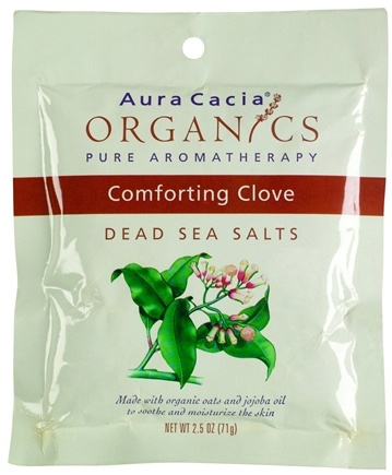 DROPPED: Aura Cacia - Dead Sea Bath Salts Comforting Clove - 2.5 oz.