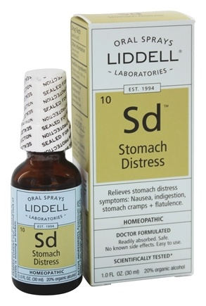 Liddell Laboratories - Stomach Distress Homeopathic Oral Spray - 1 oz.
