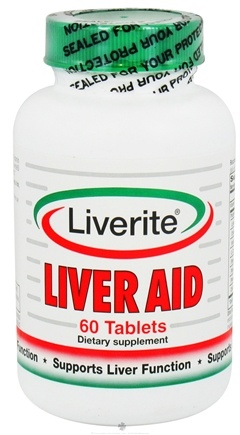 DROPPED: Liverite Products - Liver Aid - 60 Tablets CLEARANCE PRICED
