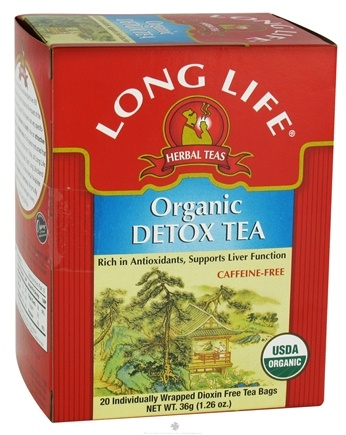 DROPPED: Long Life Teas - Detox Tea Caffeine-Free Herbal Tea - 20 Tea Bags