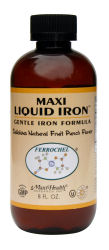 DROPPED: Maxi-Health Research Kosher Vitamins - Maxi Liquid Iron Fruit Punch - 8 oz.
