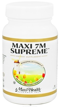 DROPPED: Maxi-Health Research Kosher Vitamins - Maxi 7m Supreme Acidophilus Formula High Potency Probiotic - 60 Capsules CLEARANCE PRICED