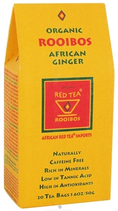 DROPPED: African Red Tea Imports - Red Tea With African Ginger - Organic - 20 Tea Bags