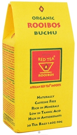 DROPPED: African Red Tea Imports - Red Tea With Buchu - Organic - 20 Tea Bags