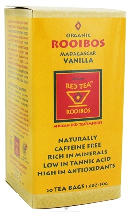 DROPPED: African Red Tea Imports - Red Tea With Madagascar Vanilla Bean - Organic - 20 Tea Bags