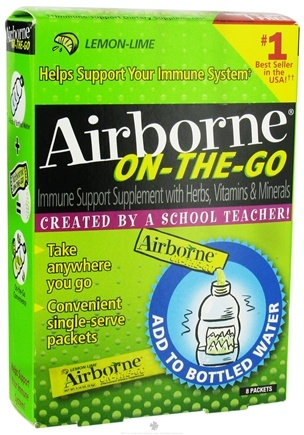 DROPPED: Airborne - On-the-Go Lemon-Lime Flavor - 10 Tablets