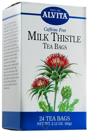 DROPPED: Alvita - Milk Thistle Caffeine Free - 24 Tea Bags