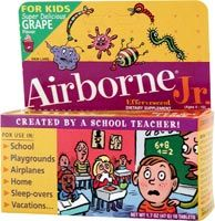 DROPPED: Airborne - Airborne Jr. For Kids Super Delicious Grape - 10 Tablets