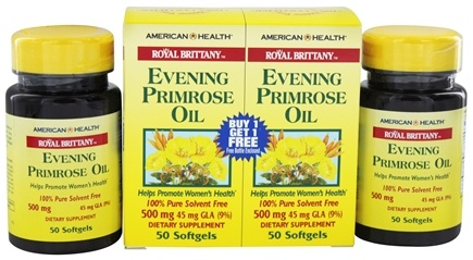 DROPPED: American Health - Royal Brittany Evening Primrose Oil (50+50) Twin Pack Special 500 mg. - 100 Softgels