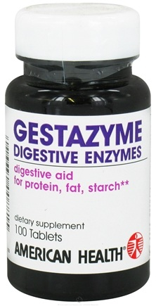 DROPPED: American Health - Gestazyme Digestive Enzymes - 100 Tablets
