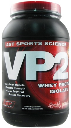 DROPPED: AST Sports Science - VP2 Whey Protein Isolate Fruit Punch - 2 lbs. CLEARANCE PRICED