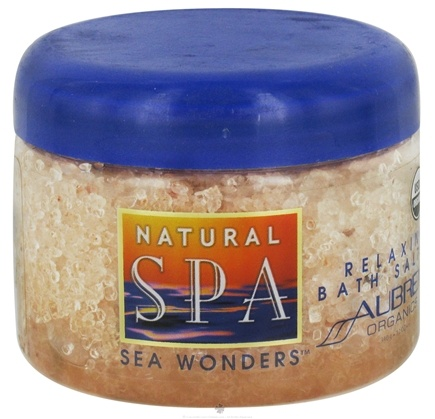 DROPPED: Aubrey Organics - Natural Spa Sea Wonders Relaxing Bath Salts - 12 oz. CLEARANCE PRICED