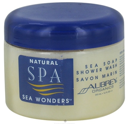 DROPPED: Aubrey Organics - Natural Spa Sea Wonders Sea Soap Shower Wash - 12 oz. CLEARANCE PRICED