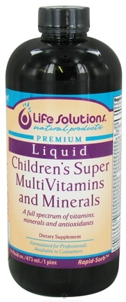 DROPPED: Life Solutions - Liquid Children's Super MultiVitamins and Minerals - 16 oz.