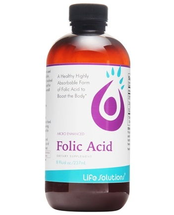 Life Solutions - Liquid Folic Acid - 8 oz.