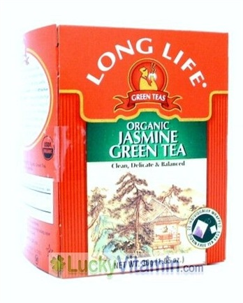 DROPPED: Long Life Teas - Organic Jasmine Green Tea - 20 Tea Bags