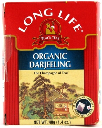 DROPPED: Long Life Teas - Organic Darjeeling Tea - 20 Tea Bags