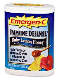 DROPPED: Alacer - Emergen-C Immune Defense Fizzing Lozenges Ruby Honey Lemon Flavor - 15 Lozenges