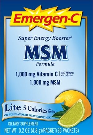 DROPPED: Alacer - Emergen-C Lite with MSM Citrus - 36 Packet(s)