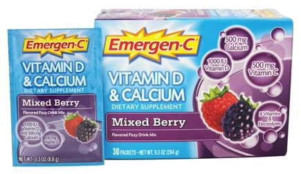 DROPPED: Alacer - Emergen-C Vitamin D and Calcium Mixed Berry - 30 Packet(s)