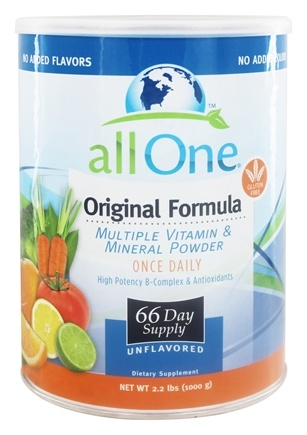 All One - Original Formula Multiple Vitamin Mineral Powder - 2.2 lbs.