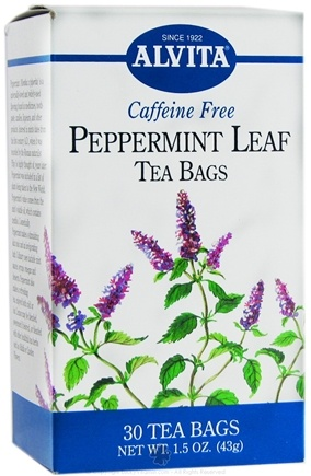 DROPPED: Alvita - Peppermint Leaf Caffeine Free - 30 Tea Bags