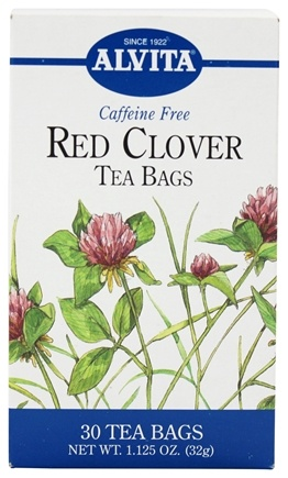 DROPPED: Alvita - Red Clover Caffeine Free - 30 Tea Bags