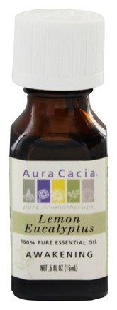 Aura Cacia - Essential Oil Awakening Lemon Eucalyptus - 0.5 oz.