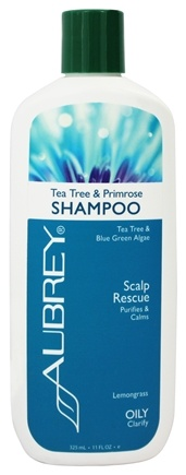 Aubrey Organics - Shampoo Tea Tree & Primrose Scalp Rescue Lemongrass - 11 oz.