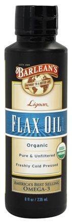 Barlean's - Highest Lignan Flax Oil 100% Organic - 8 oz.