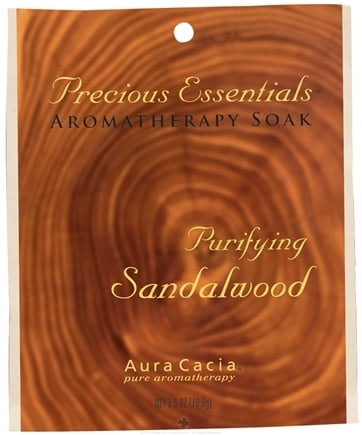 DROPPED: Aura Cacia - Precious Essentials Aromatherapy Soak Purifying Sandalwood - 2.5 oz.