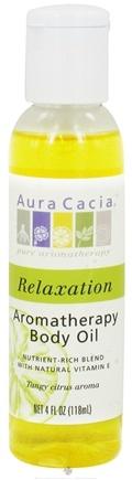 DROPPED: Aura Cacia - Aromatherapy Massage Oil Relaxation - 4 oz. CLEARANCE PRICED