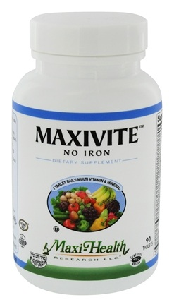 DROPPED: Maxi-Health Research Kosher Vitamins - Maxivite One a Day Multi-Vitamin & Mineral Supplement No Iron - 90 Tablets