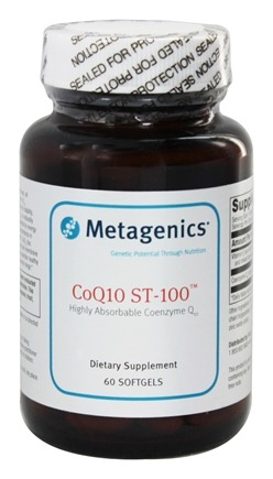 Metagenics - CoQ10 ST-100 Highly Absorbable Coenzyme Q10 100 mg. - 60 Softgels