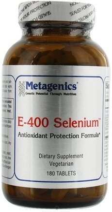 DROPPED: Metagenics - E-400 Selenium - 180 Tablets CLEARANCE PRICED