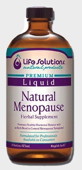 DROPPED: Life Solutions - Liquid Natural Menopause - 16 oz. CLEARANCE PRICED