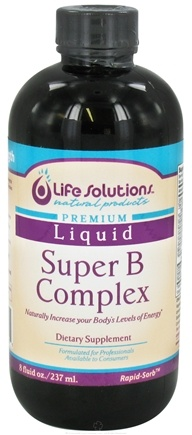 DROPPED: Life Solutions - Liquid Super B-Complex - 8 oz. CLEARANCE PRICED