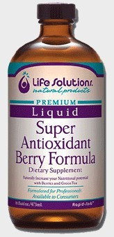 DROPPED: Life Solutions - Liquid Super Berry Antioxidant Berry Formula - 16 oz. SPECIALLY PRICED