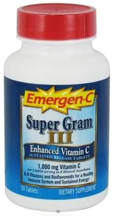 DROPPED: Alacer - Emergen-C Super Gram III Enhanced Vitamin C - 90 Tablets