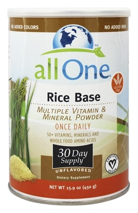 All One - Rice Base Multiple Vitamin and Mineral Powder - 15.9 oz.