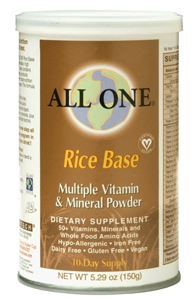 DROPPED: All One - Rice Base Multiple Vitamin & Mineral Powder - 5.29 oz. CLEARANCE PRICED